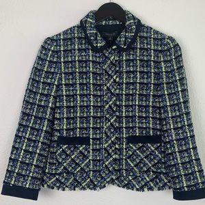 Ann Taylor Plaid Tweed Jacket Blazer